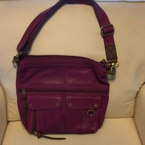 Purple Fossil Bag Lots of Pockets!